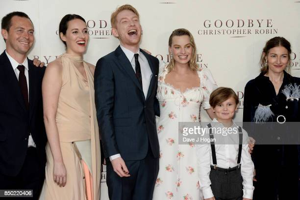 Stephen Campbell Moore Phoebe WallerBridge Domhnall Gleeson Margot Robbie Will Tilston and Kelly Macdonald attend the 'Goodbye Christopher Robin'...
