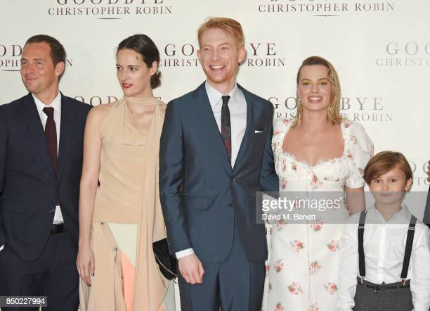 Stephen Campbell Moore Phoebe WallerBridge Domhnall Gleeson Margot Robbie and Will Tilston attend the World Premiere of 'Goodbye Christopher Robin'...