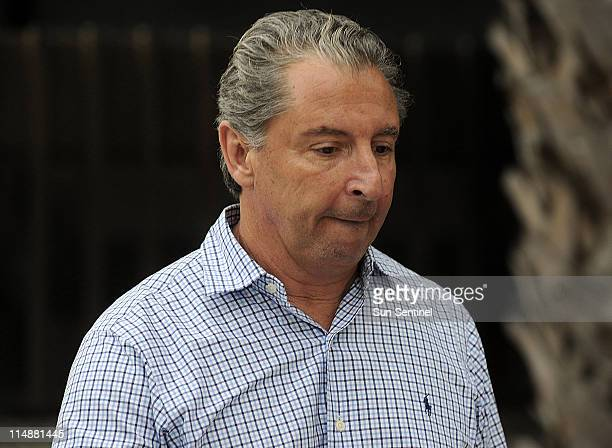 Stephen Caputi leaves the Federal Building in Fort Lauderdale Florida after appearing on charges of conspiracy to commit wire fraud Friday May 27...