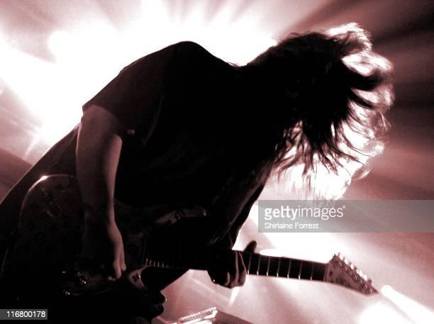 Stephen Carpenter of Deftones during Deftones in Concert at Manchester Academy March 11 2007 at Manchester Academy in Manchester Great Britain