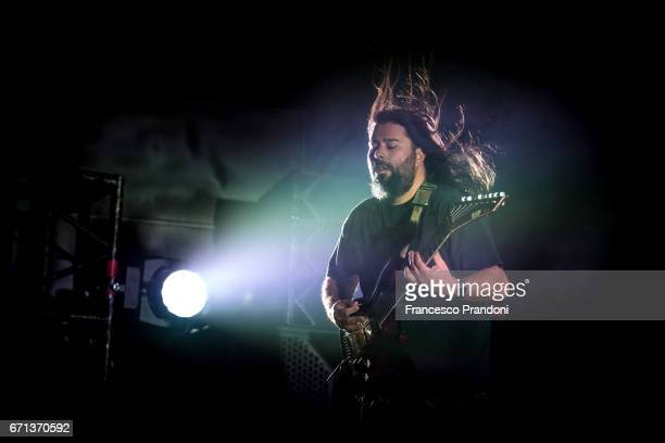 Stephen Carpenter of Deftones performs at Fabrique on April 21 2017 in Milan Italy