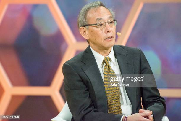 Stephen Chu 1997 Laureate of the Nobel Prize in Physics and Secretary of Energy under President Barak Obama speaks at 'Nobel Week Dialogue the Future...