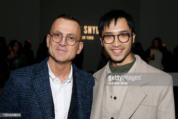 Stephen Colb and Yoson An attend the Todd Snyder show during New York Fashion Week Men's at Pier 59 Studios on February 05 2020 in New York City