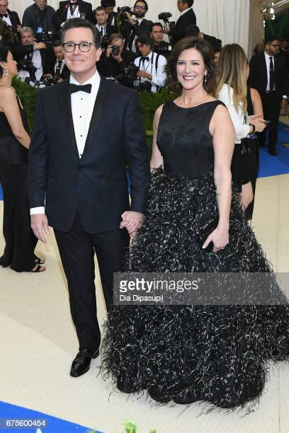 Stephen Colbert and Evelyn McGee attend the 'Rei Kawakubo/Comme des Garcons Art Of The InBetween' Costume Institute Gala at Metropolitan Museum of...