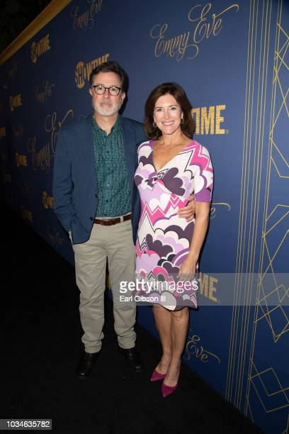 Stephen Colbert and Evelyn McGee attend the Showtime Emmy Eve Nominees Celebration at Chateau Marmont on September 16 2018 in Los Angeles California