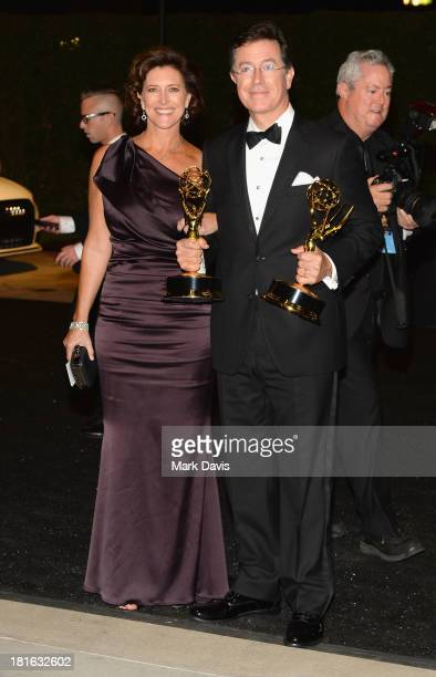 Stephen Colbert and Evelyn McGeeColbert attend the Governors Ball during the 65th Annual Primetime Emmy Awards at Nokia Theatre LA Live on September...