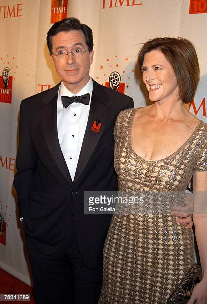 Stephen Colbert and Evie McGee Colbert
