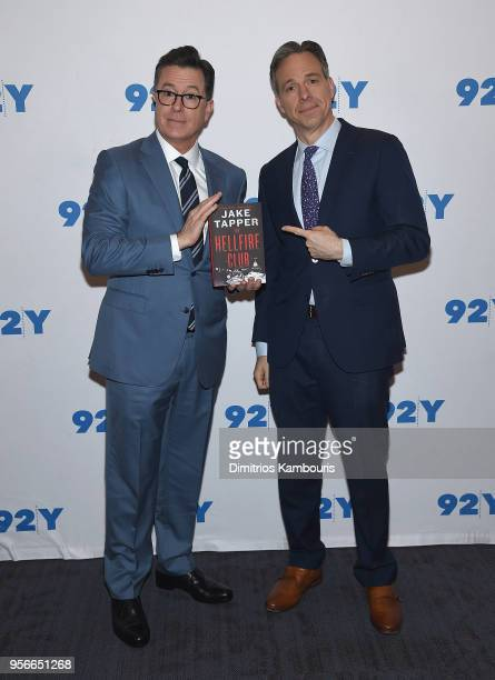 Stephen Colbert and Jake Tapper attend a conversation at 92nd Street Y on on May 9 2018 in New York City