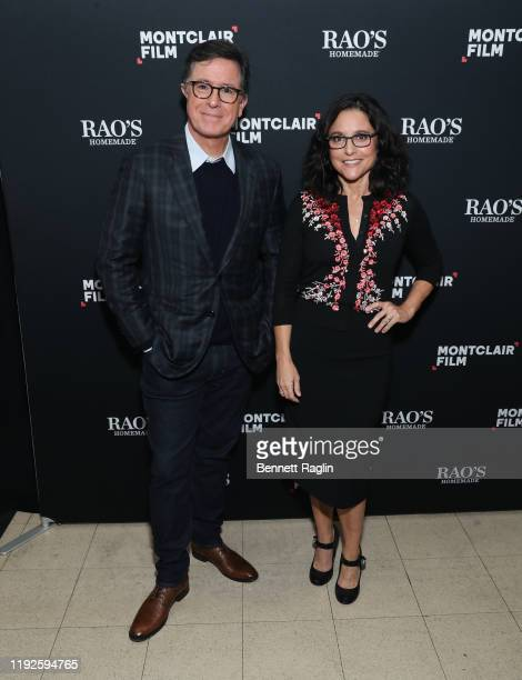 Stephen Colbert and Julia Louis-Dreyfus attends the Montclair Film Presents: An Evening With Stephen Montclair Film Presents: An Evening With Stephen...