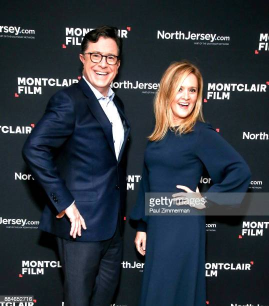 Stephen Colbert and Samantha Bee attend Sad A Happy Evening with Stephen Colbert Samantha Bee for Montclair Film at NJPAC on December 2 2017 in...