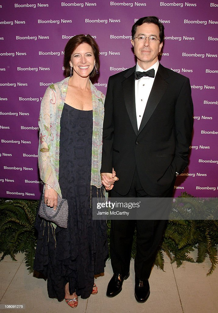 Stephen Colbert And Wife Evelyn During 2006 White House News