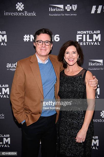 Stephen Colbert and wife Evelyn McGee-Colbert arrive at the Post-Election Evening to Benefit Montclair Film Festival at NJ Performing Arts Center on...
