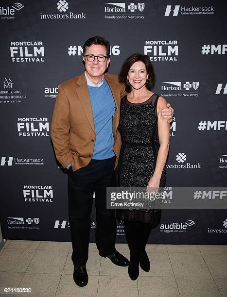 Stephen Colbert and wife Evelyn McGeeColbert arrive at the PostElection Evening to Benefit Montclair Film Festival at NJ Performing Arts Center on...