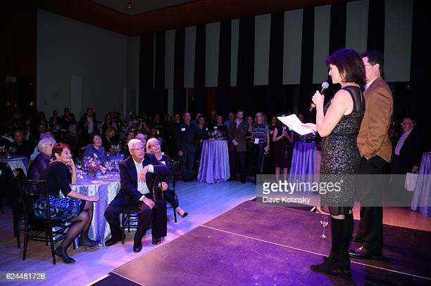 Stephen Colbert and wife Evelyn McGee-Colbert speak at the Post-Election Evening to Benefit Montclair Film Festival at NJ Performing Arts Center on...