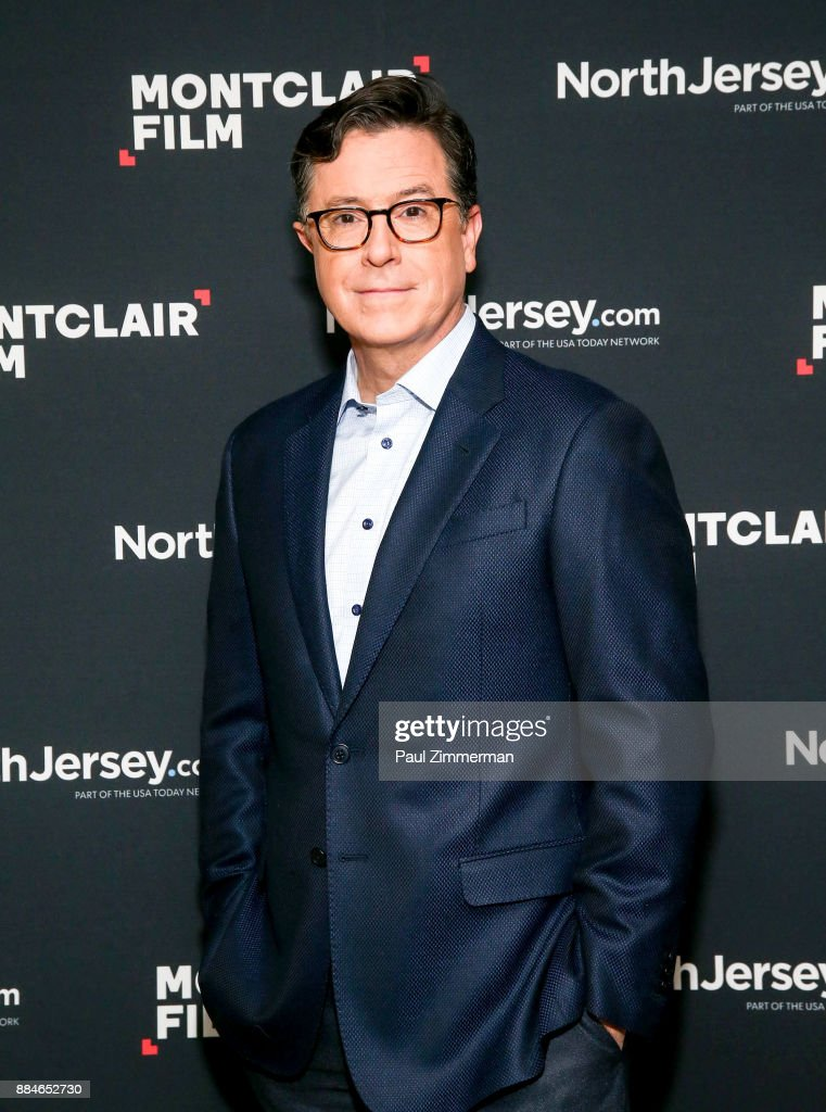 Stephen Colbert attends Sad! A Happy Evening with Stephen Colbert & Samantha Bee for Montclair Film at NJPAC on December 2, 2017 in Newark, New Jersey.