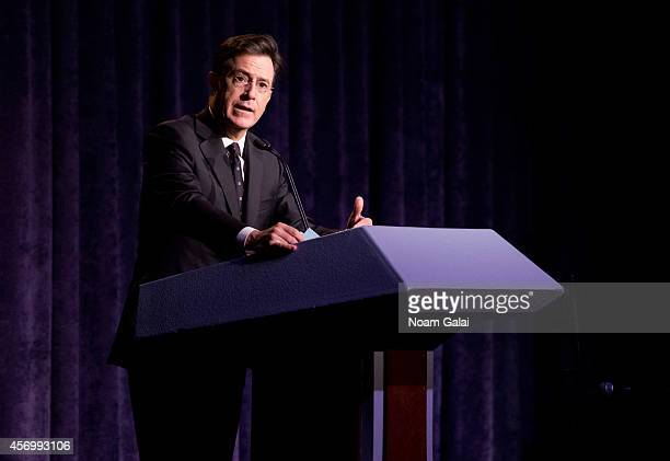Stephen Colbert attends the 2014 Storycorps Gala Hosted By Stephen Colbert at Intrepid SeaAirSpace Museum on October 9 2014 in New York City