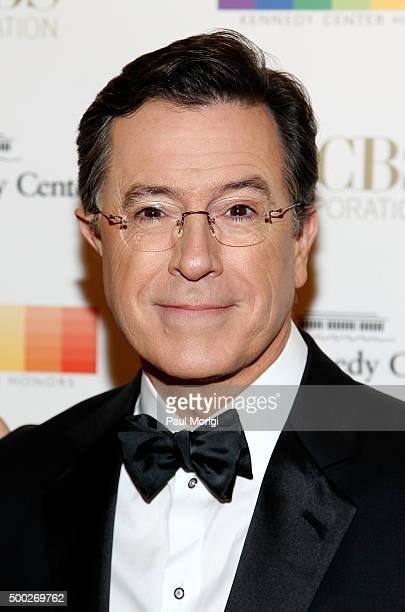 Stephen Colbert attends the 38th Annual Kennedy Center Honors Gala at John F Kennedy Center for the Performing Arts on December 6 2015 in Washington...