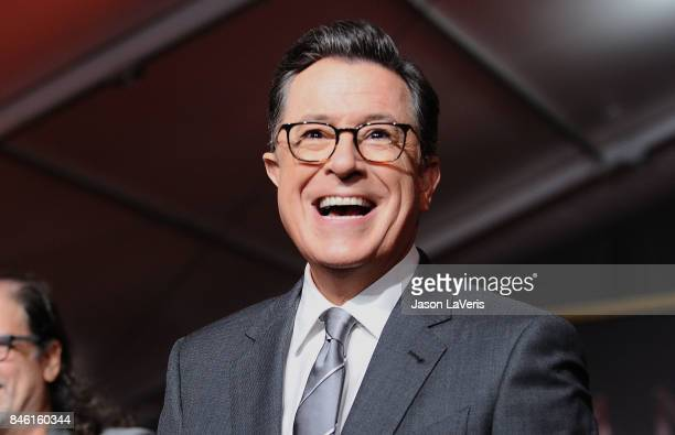 Stephen Colbert attends the 69th Emmy Awards press preview day at Microsoft Theater on September 12 2017 in Los Angeles California