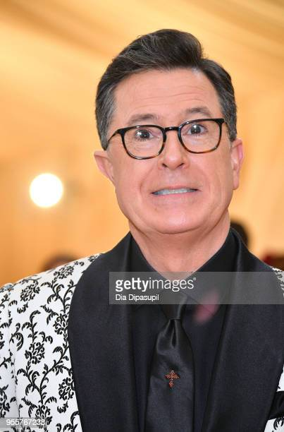 Stephen Colbert attends the Heavenly Bodies Fashion The Catholic Imagination Costume Institute Gala at The Metropolitan Museum of Art on May 7 2018...