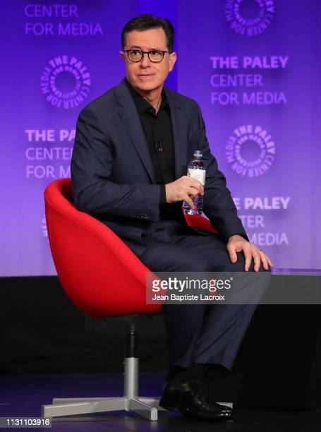 Stephen Colbert attends the Paley Center For Media's 2019 PaleyFest LA An Evening With Stephen Colbert on March 16 2019 in Los Angeles California
