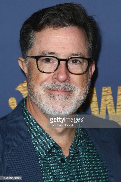 Stephen Colbert attends the Showtime Emmy Eve Nominees Celebration at Chateau Marmont on September 16 2018 in Los Angeles California