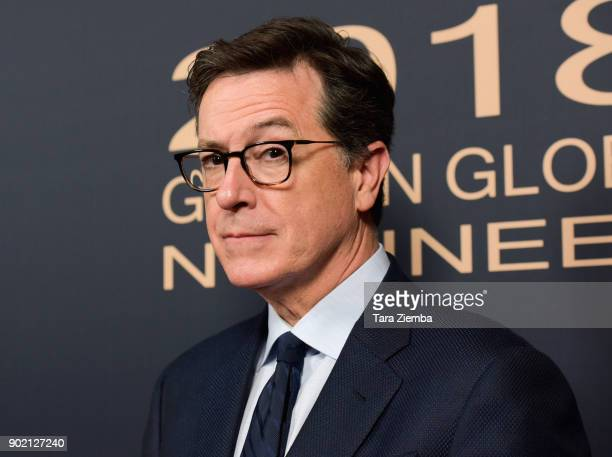 Stephen Colbert attends the Showtime Golden Globe Nominees Celebration at Sunset Tower on January 6 2018 in Los Angeles California