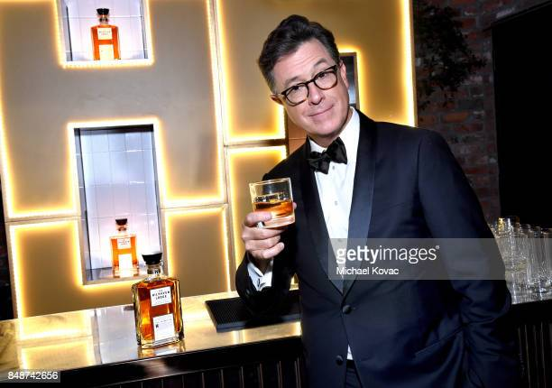 Stephen Colbert celebrates with The Hilhaven Lodge whiskey at his Emmys after party following a successful night of hosting on September 17 2017 in...