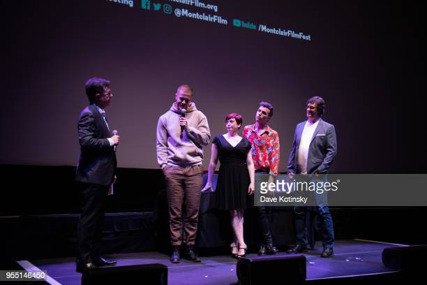 Stephen Colbert Dan Reynolds Don Argott Sheena M Joyce and Tyler Glenn attend the Montclair Film Festival on May 5 2018 in Montclair NJ