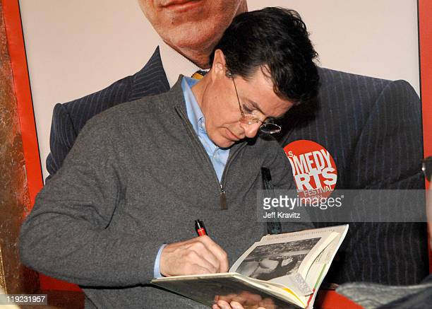 Stephen Colbert during HBO's 13th Annual US Comedy Arts Festival 2006 Person of the Year Stephen Colbert Backstage at St Regis Hotel in Aspen...