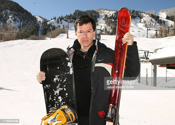 Stephen Colbert during HBO's 13th Annual US Comedy Arts Festival USCAF Celebrity Ski and Snowboard Race at Aspen Mountain Nastar Course in Aspen...