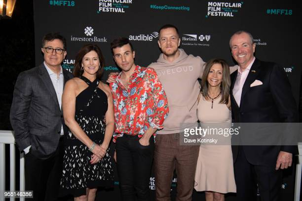 Stephen Colbert Evelyn Colbert Dan Reynolds Tyler Glenn New jersey Governor Phil Murphy and his wife First Lady Tammy Murphy attend the Montclair...