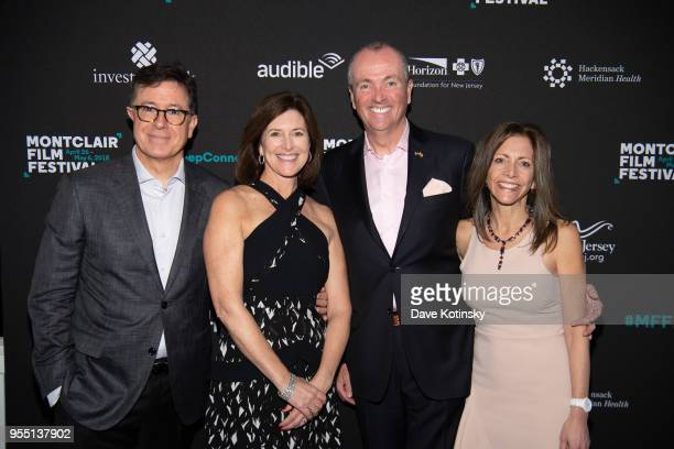 Stephen Colbert Evelyn Colbert New jersey Governor Phil Murphy and his wife First Lady Tammy Murphy attend the Montclair Film Festival on May 5 2018...