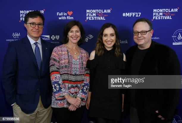 Stephen Colbert Evelyn Colbert Zoe Lister Jones and Tom Hall attend the 2017 Montclair Film Festival on May 6 2017 in Montclair New Jersey