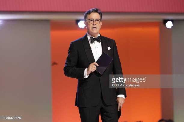 Stephen Colbert for The Late Show with Stephen Colbert appears at the 73RD EMMY AWARDS, broadcast Sunday, Sept. 19 on the CBS Television Network and...