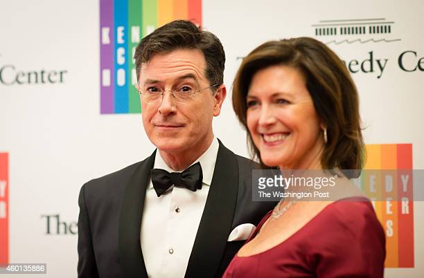 Stephen Colbert is pictured with his wife. The Kennedy Center Honorees have dinner at the U.S. Department of State. Recipients to be honored at the...