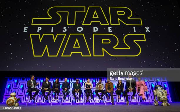 Stephen Colbert, J.J. Abrams, Kathleen Kennedy, Anthony Daniels, Billy Dee Williams, Daisy Ridley, John Boyega, Oscar Isaac, Kelly Marie Tran, Joonas...