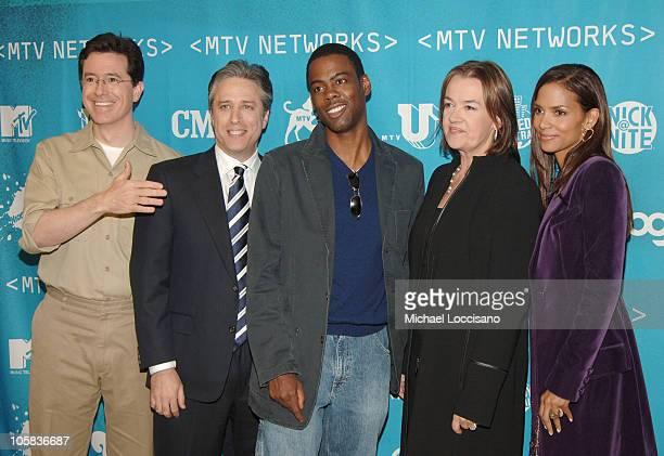 Stephen Colbert Jon Stewart Chris Rock Judy McGrath MTV Networks Chairman and CEO and Halle Berry