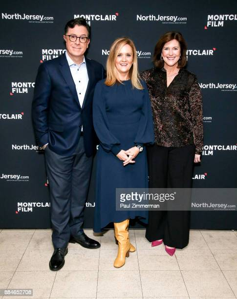 Stephen Colbert Samantha Bee and President of the Board Montclair Film Festival Evelyn Colbert attend Sad A Happy Evening with Stephen Colbert...