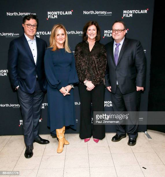 Stephen Colbert Samantha Bee President of the Board Montclair Film Festival Evelyn Colbert and Tom Hall Executive director of the Montclair Film...
