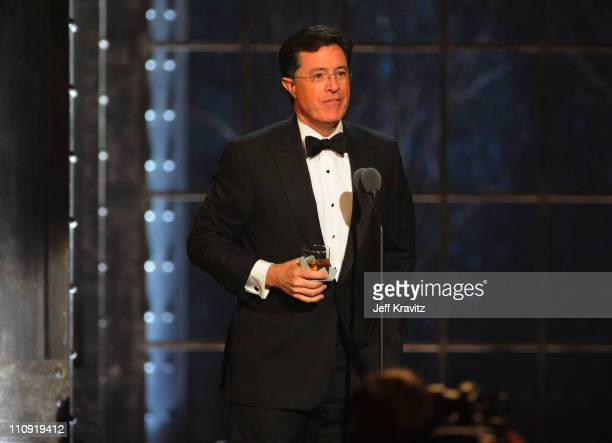 Stephen Colbert speaks onstage at the First Annual Comedy Awards at Hammerstein Ballroom on March 26, 2011 in New York City.