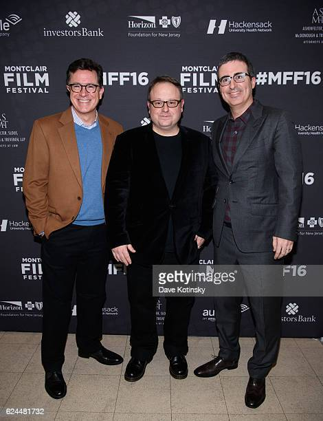Stephen Colbert Tom Hall and John Oliver arrive at the PostElection Evening to Benefit Montclair Film Festival at NJ Performing Arts Center on...