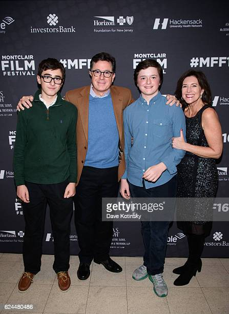 Stephen Colbert Wife Evelyn McGeeColbert and Kids arrive at the PostElection Evening to Benefit Montclair Film Festival at NJ Performing Arts Center...