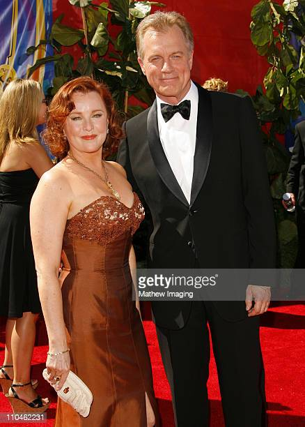 Stephen Collins and guest during 58th Annual Primetime Emmy Awards Arrivals at Shrine Auditorium in Los Angeles California United States