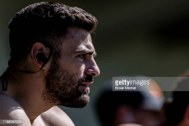 Stephen Coniglio is pictured during a Greater Western Sydney Giants AFL media opportunity at the WestConnex Centre on August 15, 2019 in Sydney,...