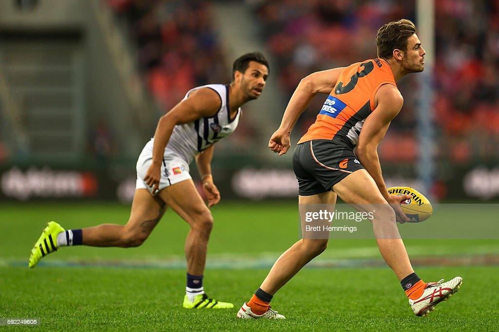 AFL Rd 22 - Greater Western Sydney v Fremantle : News Photo