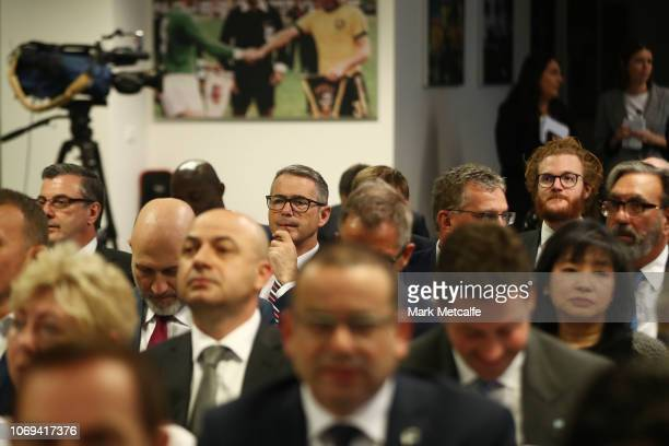 Stephen Conroy attends during the Football Federation Australia Annual General Meeting at FFA Offices on November 19 2018 in Sydney Australia