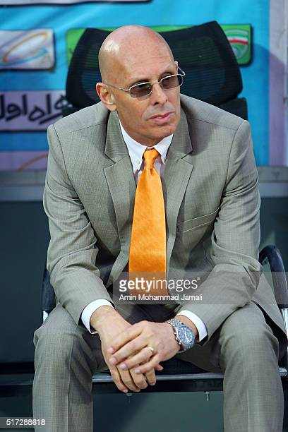 Stephen Constantine head coach of India looks on during 2018 FIFA World Cup Qualifier match between Iran against India on March 24 2016 in Tehran Iran