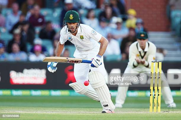 Stephen Cook of South Africa bats during day three of the Third Test match between Australia and South Africa at Adelaide Oval on November 26 2016 in...