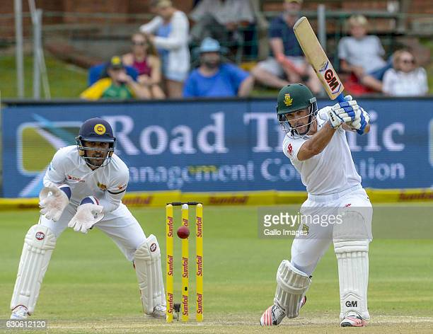 Stephen Cook of South Africa during day 3 of the 1st Test match between South Africa and Sri Lanka at St George's Park on December 28 2016 in Port...