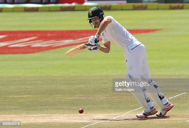 Stephen Cook of South Africa during day 3 of the 2nd test between South Africa and Sri Lanka at PPC Newlands on January 04 2107 in Cape Town South...